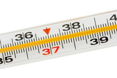 Macro of medical thermometer Royalty Free Stock Image