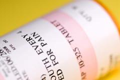 Macro of medication bottle Stock Image
