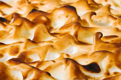 Macro meringue citrus pie Stock Photos