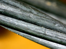 Macro of Metal Cable. Close Up of Twisted Metal Cabel royalty free stock photography