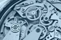 Macro Metal Cogwheels, Concept Teamwork Royalty Free Stock Photo