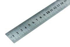 Macro of metal ruler Royalty Free Stock Photo