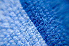 Macro microfiber. Macro zoomed two colored microfiber Royalty Free Stock Image