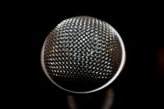 Macro of a microphone Stock Photo