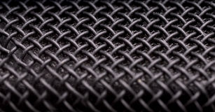 Macro of microphone Stock Photo