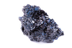 Macro mineral stone covellite on white background Stock Photo