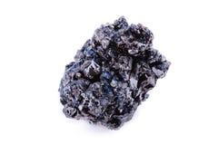 Macro mineral stone covellite on white background Stock Photos