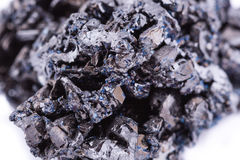 Macro mineral stone covellite on white background Stock Images