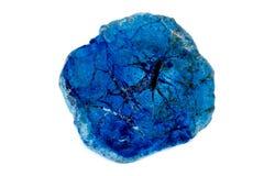 Macro mineral stone Malachite and Azurite against white background. Close up royalty free stock image