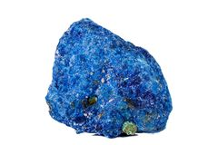 Macro mineral stone Malachite and Azurite against white background. Close up stock images