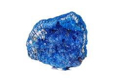 Macro mineral stone Malachite and Azurite against white background. Close up royalty free stock photo