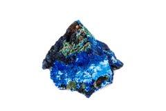 Macro mineral stone Malachite and Azurite against white background. Close up stock photos