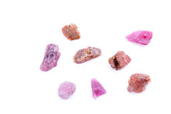 Macro mineral stone Spinel on white background Royalty Free Stock Photo