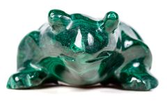 Macro mineral stone toad from malachite. Close-up royalty free stock photos