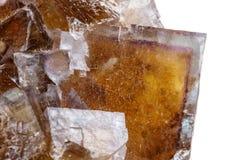 Free Macro Mineral Stone Yellow Fluorite On A White Background Stock Image - 136116901
