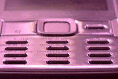 Macro of mobile phone keyboard button Stock Photography