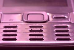 Macro of mobile phone keyboard button. Macro of pink mobile phone keyboard button Stock Photography