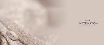 Macro modèle de bouton d'argent de chemisier de tissu Image libre de droits