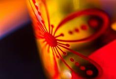 Macro modèle en verre abstrait Image stock