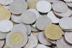 Macro monete Fotografie Stock