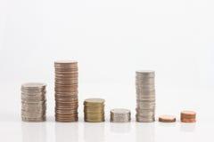 Macro monete Fotografia Stock