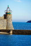 Macro of a morbid lighthouse. Maco of a morbid lighthouse of Collioure Royalty Free Stock Photo