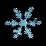 Macro morceau de flocon de neige en cristal naturel de glace Images stock