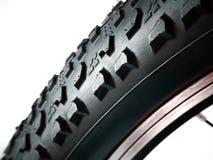 Macro of MTB bicycle tire Stock Photos