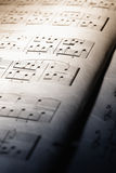 Macro of music sheet Stock Photography