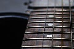 Macro musica di dolore di musica della chitarra Fotografie Stock Libere da Diritti