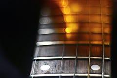 Macro musique de peine de musique de guitare Photographie stock libre de droits