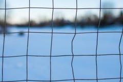 Macro net d'hockey Image stock
