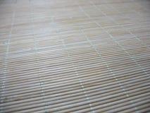 Macro of an new bamboo mat texture Stock Photo