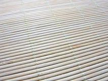 Macro of an new bamboo mat texture Royalty Free Stock Image