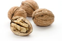 Macro of nutmeat and nuts Stock Photos