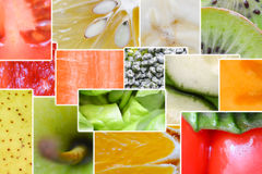 Macro o fine dell'arcobaleno della verdura e della frutta fresca su Fotografie Stock