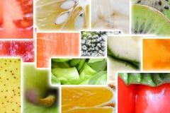 Macro o fine dell'arcobaleno della verdura e della frutta fresca su Fotografie Stock Libere da Diritti