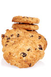 Macro oatmeal raisin cookies Stock Image