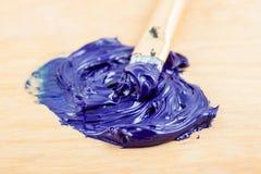 Macro of oil paint. Stock Photo