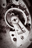 Macro old mechanism. Macro old abstract retro mechanism Royalty Free Stock Images