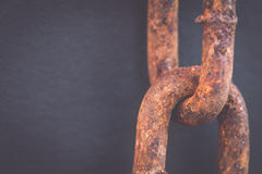Macro Old and rusty chain Royalty Free Stock Photo