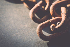 Macro Old and rusty chain Stock Photos