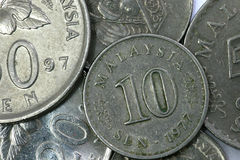 Macro On Coins Royalty Free Stock Images
