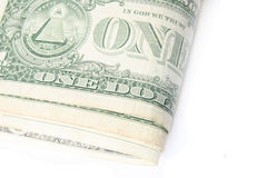 Macro one dollar bill Royalty Free Stock Images