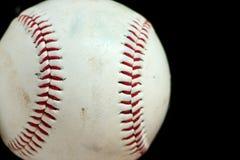 Macro orizzontale di baseball Fotografie Stock