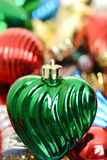 Macro ouderwets Kerstmisornament Stock Afbeeldingen