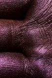 Macro Palm Skin painted in purple royalty free stock photos