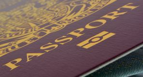 Macro passport Stock Photography