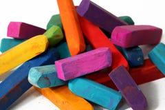 Macro of pastel sticks. Colorful macro of pastel sticks isolated Stock Photography