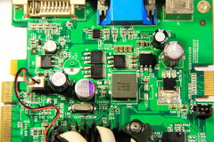 Macro of pc video card Royalty Free Stock Images